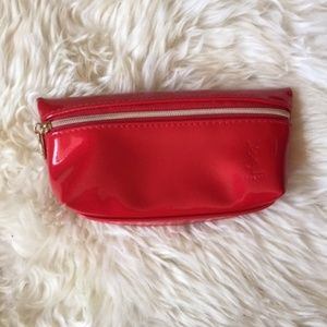 Yves Saint Laurent Red Patent Leather Make Up Bag